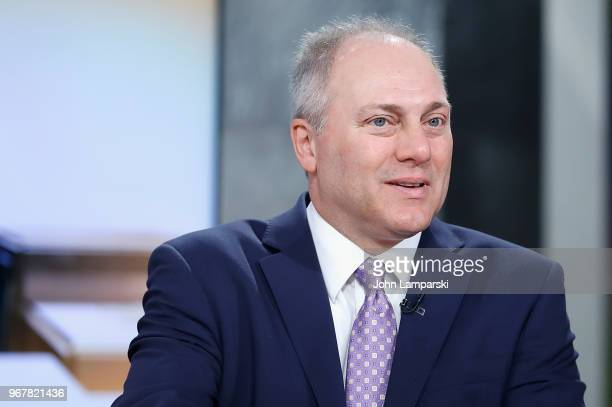 United States House of Representatives Majority Whip and US Rep Steve Scalise visits Mornings With Maria at Fox Business Network Studios on June 5...