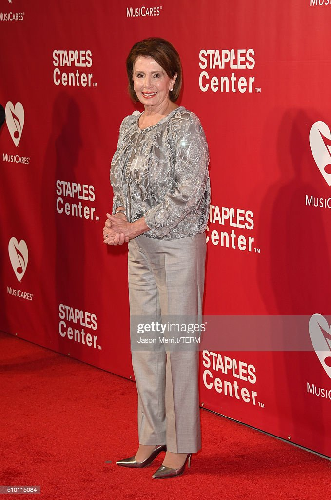 United States House of Representatives Minority Leader Nancy Pelosi attends the 2016 MusiCares Person of the Year honoring Lionel Richie at the Los Angeles Convention Center on February 13, 2016 in Los Angeles, California.