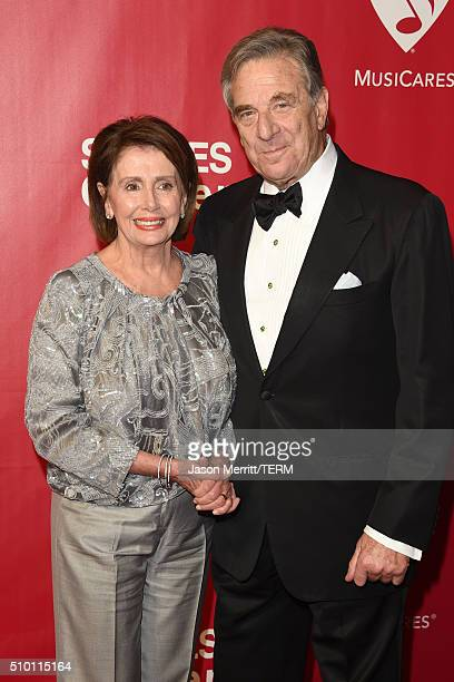 United States House of Representatives Minority Leader Nancy Pelosi and Paul Pelosi attend the 2016 MusiCares Person of the Year honoring Lionel...