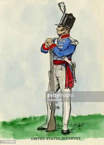 United States Infantry Sergeant 1812 The War of 1812 was fought between America and the British Empire and its Native American allies
