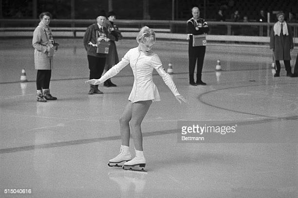 United States' Janet Lynn during the second round of the Ladies compulsory Figure skating in which she gained 1615 points to bring her to sixteenth...