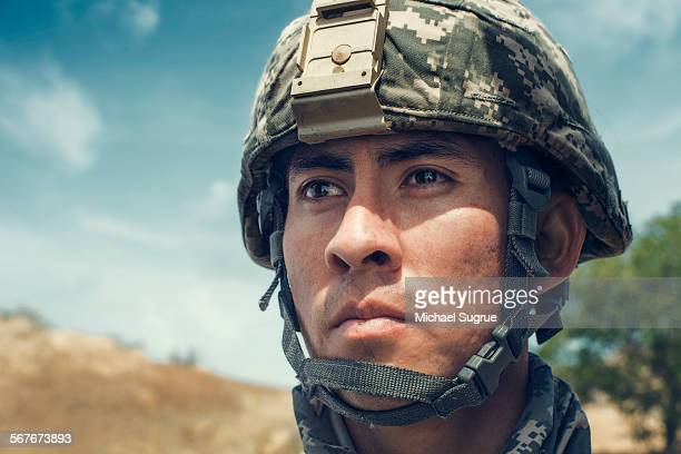 United States Marine poses for a portrait.