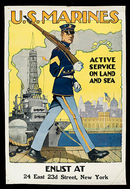 U.S. Marines Recruitment Poster Wall Art