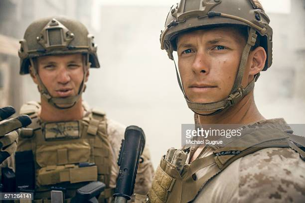 united states marines on patrol. - santa clarita stock pictures, royalty-free photos & images