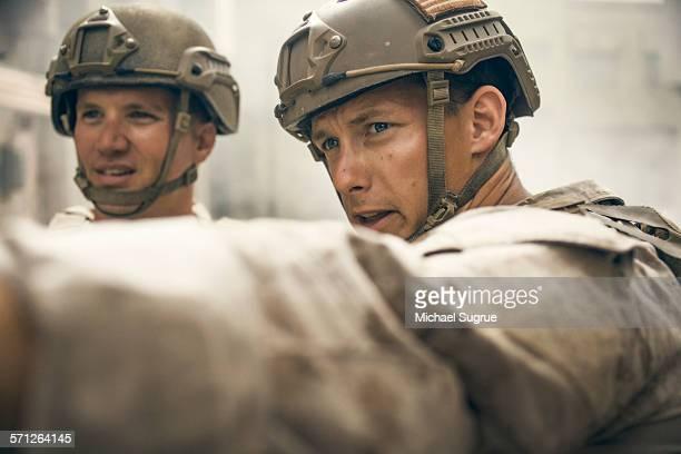 United States Marines on patrol.