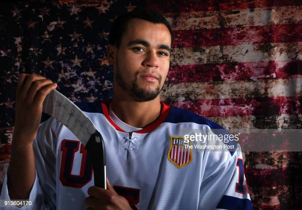 CITY UT SEPTEMBER United States Men's Ice Hockey player Jordan Greenway poses for a portrait during the Team USA Media Summit for the 2018...