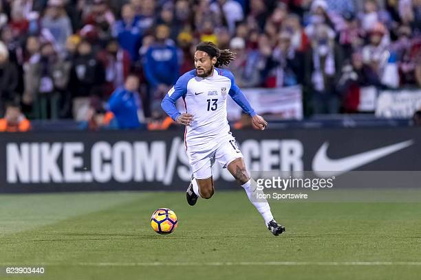 United States Men's National Team player Jermaine Jones dribbles the ball down field in the first half during the FIFA 2018 World Cup Qualifier at...