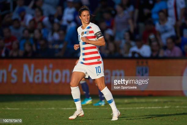 United States midfielder Carli Lloyd looks on in game action during a Tournament of Nations match between the United States and Japan on July 26 2018...