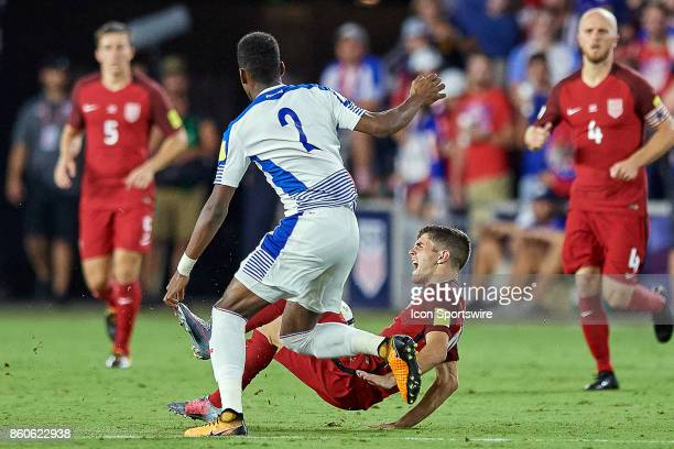 United States midfielder Christian Pulisic is fouled by Panama defender Michael Murillo during the World Cup Qualifying match between the the United...