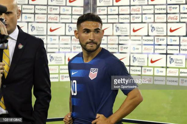United States midfielder Cristian Roldan after the game between the United States National team and the Mexico National team on September 11 2018 at...