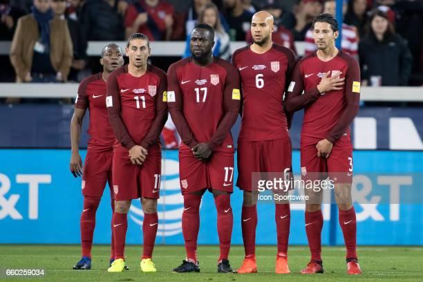 United States midfielder Darlington Nagbe United States midfielder Alejandro Bedoya United States forward Jozy Altidore United States defender John...