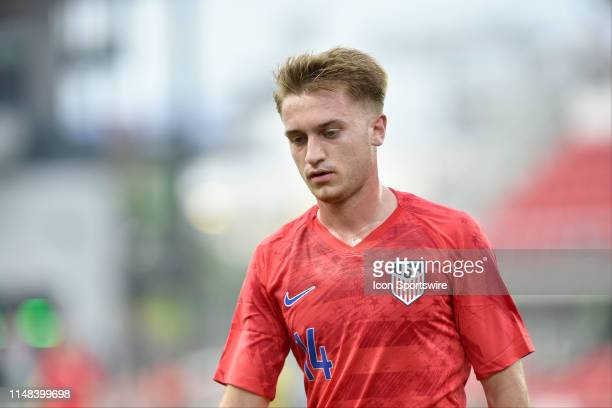 United States midfielder Djordje Mihailovic walks to a corner kick during the United States Mens National Team international friendly soccer match...