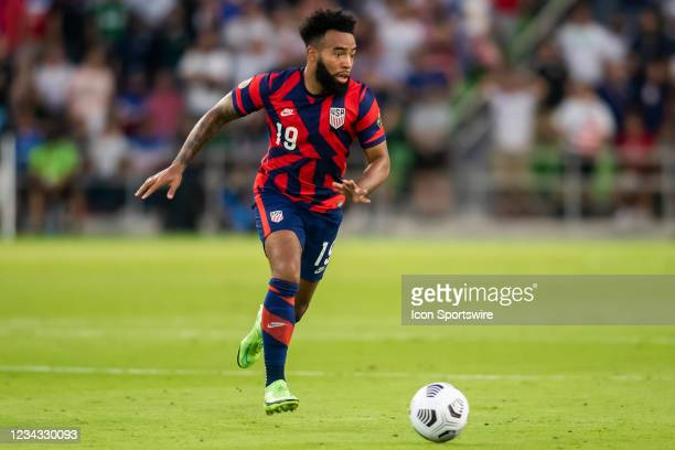 United States midfielder Eryk Williamson brings the ball upfield during the Gold Cup semifinal match between the United States and Qatar on Thursday...