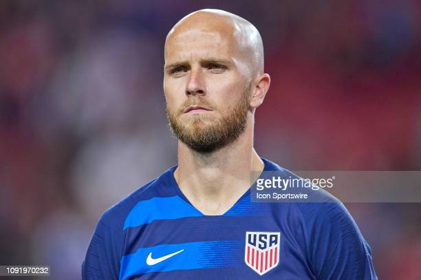 United States midfielder Michael Bradley looks on prior to the start of the game action during an international friendly match between the United...