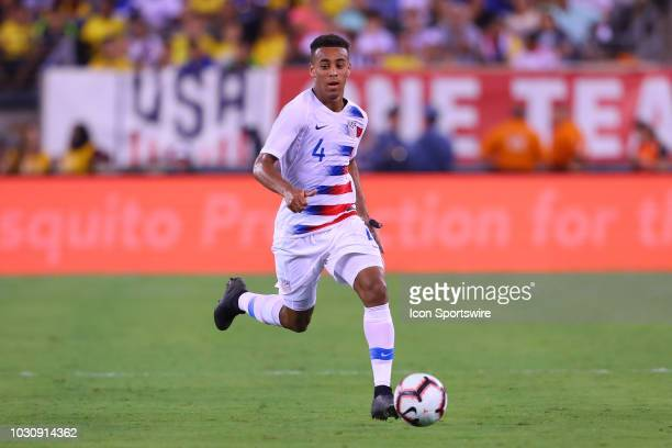United States midfielder Tyler Adams during the International Friendly Soccer match between the the United States and Brazil on September 7 2018 at...