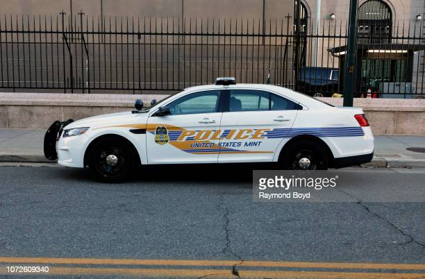 United States Mint Police vehicle sits outside the United States Mint Denver in Denver Colorado on November 15 2018