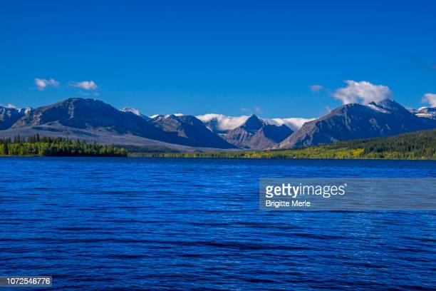 united states, montana, glacier national park, lower saint mary lake, east of the park - mary lake stock photos and pictures