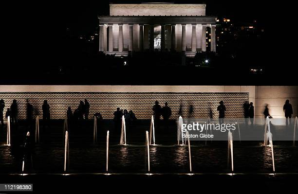 United States National Monuments Veterans Day Visitors look over the 4000 sculpted gold stars of the Freedom Wall at the National World War II...