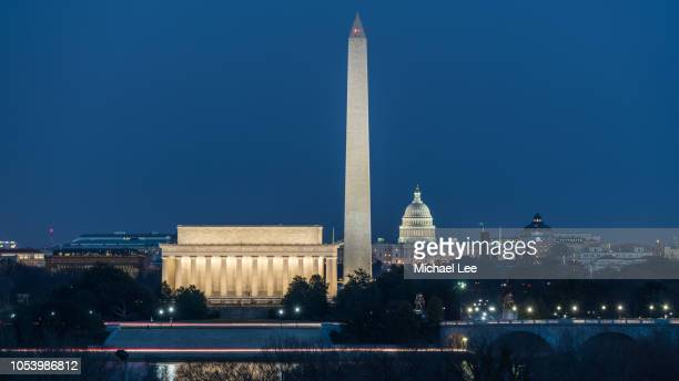 united states national monuments - washington, dc - washington dc stock pictures, royalty-free photos & images