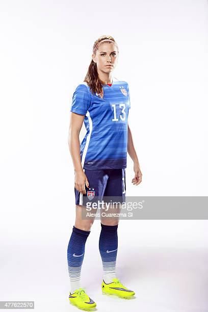 United States National Soccer team member Alex Morgan is photographed for Sports Illustrated on May 2 2015 in Newport Beach California COVER IMAGE...