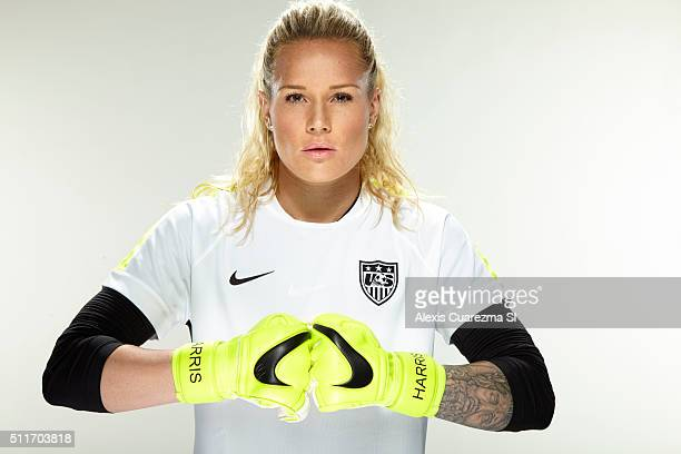 United States National Soccer team member, Ashlyn Harris is photographed for Sports Illustrated on May 2, 2015 in Newport Beach, California. CREDIT...