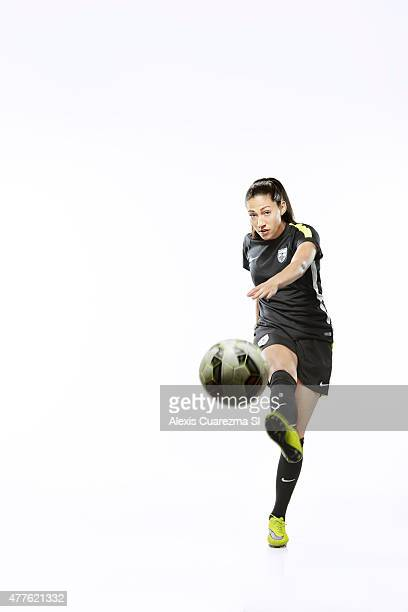 United States National Soccer team member Christen Press is photographed for Sports Illustrated on May 2 2015 in Newport Beach California PUBLISHED...