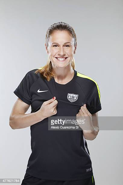United States National Soccer team member Heather O'Reilly is photographed for Sports Illustrated on May 2 2015 in Newport Beach California PUBLISHED...