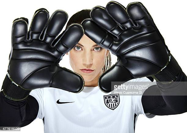 United States National Soccer team member, Hope Solo is photographed for Sports Illustrated on May 2, 2015 in Newport Beach, California. PUBLISHED...