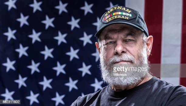 united states navy authentic vietnam war military veteran - veterans stock photos and pictures