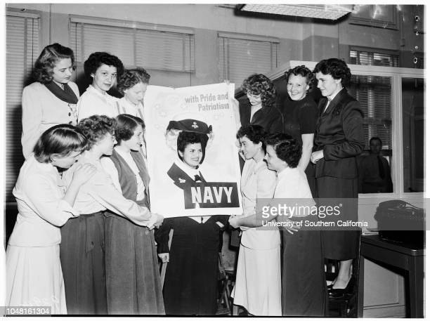 United States Navy Wave recruits 13 November 1951 Patricia L Ellis 22Anna K Merkan 21Marcia Ann Hopkins 20Belia Sarmiento 20Iris L Newton 21Wilma D...