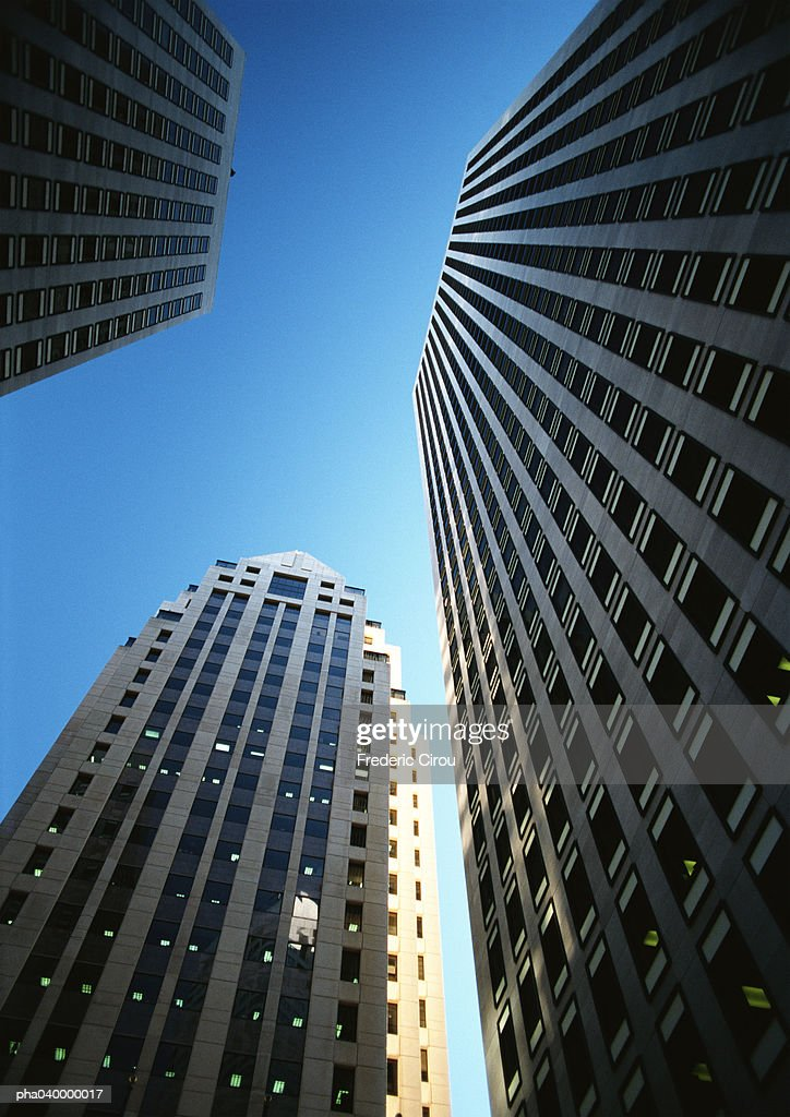 United States, New York, skyscrapers, low angle view : Stockfoto