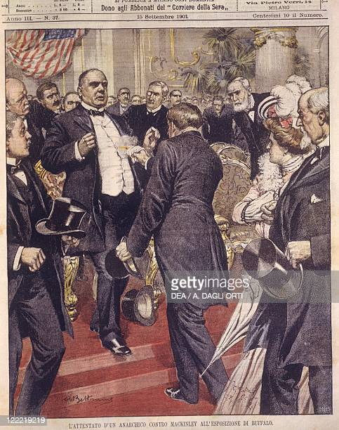 United States of America 20th century Assassination of President McKinley by the hand of an anarchist at the Exposition in Buffalo Cover illustration...