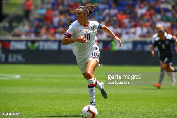 United States of America midfielder Carli Lloyd controls the ball during the 2nd half of the International Friendly match between the U.S. Women's...