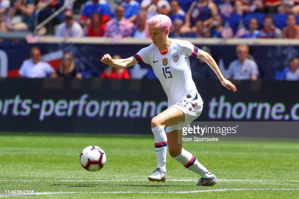 United States of America midfielder Megan Rapinoe controls the ball during the Womens soccer game between the United States of America versus Mexico...