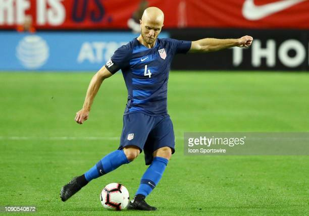 United States of America midfielder Michael Bradley passes the ball during the international friendly between the United States Men's National Team...