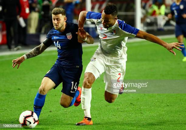 United States of America midfielder Paul Arriola possesses the ball during the international friendly between the United States Men's National Team...
