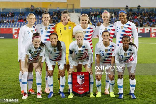 United States of America players pose for a team photo before the start of the International Friendly match between Portugal and United States of...