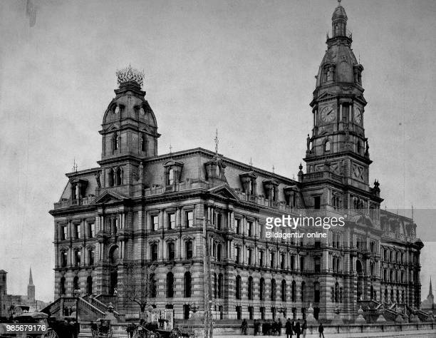 United States of America the building of the Justice Palace in Louisville State of Kentucky digital improved reproduction of an original print from...