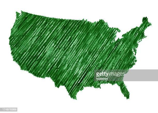 Estados Unidos mapa americaw