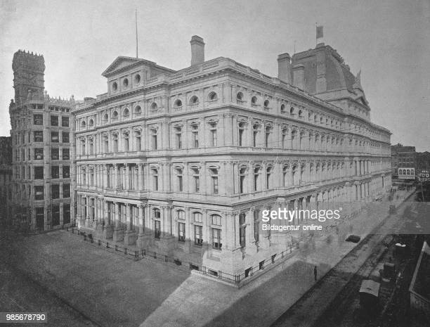 United States of Amerika Post office building in the city of Philadelphia in the US state of Pennsylvania digital improved reproduction of an...