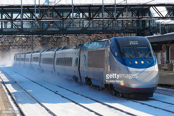 NEW YORK United States Photo shows an existing train running on Acela Express Amtrak's lucrative East Coast service in the United States in the state...