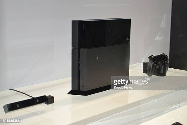 LOS ANGELES United States Photo shows Sony Computer Entertainment Inc's new game console the PlayStation 4 displayed at the Electronic Entertainment...