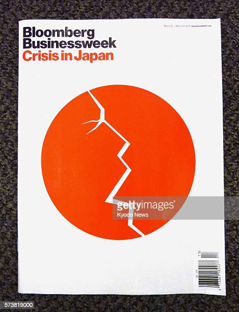NEW YORK United States Photo shows the cover art of the March 21 edition of Bloomberg Businessweek magazine which features a cracked Japanese...