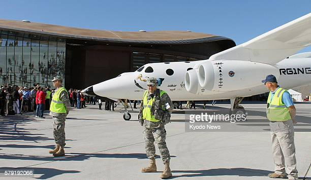 United States - Photo shows the dedication ceremony of a newly completed spaceport for space tourism, named Spaceport America and operated by Virgin...