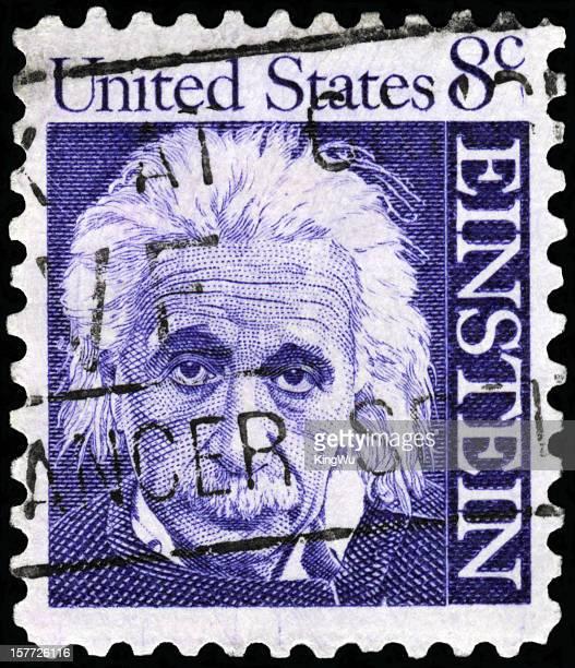 estados unidos sello postal - albert einstein fotografías e imágenes de stock