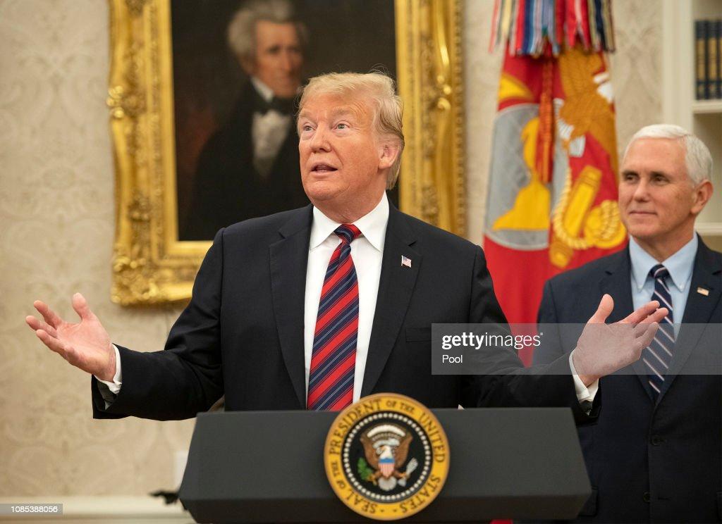 Trump Hosts a Naturalization Ceremony : News Photo