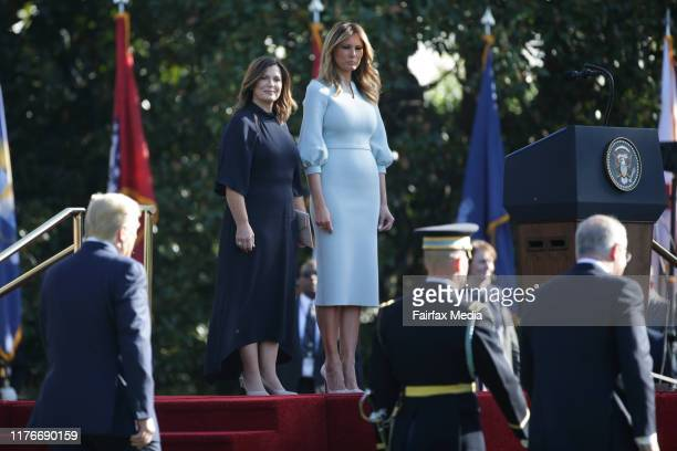 United States President Donald Trump and First Lady Melania Trump host Australian Prime Minister Scott Morrison and his wife Jenny Morrison at a...