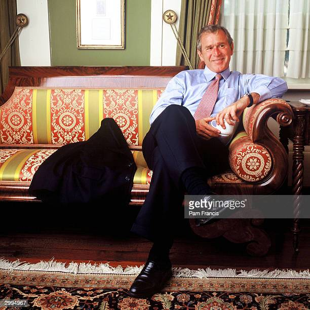 United States President George W Bush photographed on July 4 2000 in Austin Texas