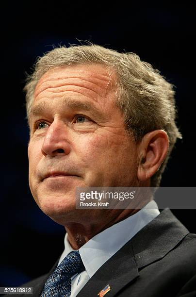 United States President George W Bush speaks before signing legislation banning socalled 'partial birth' abortions in Washington DC Bush vowed to...