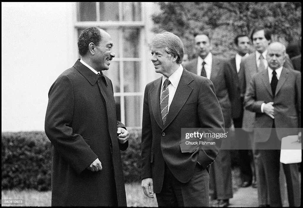 jimmy carter oval office. United States President Jimmy Carter, Right, Converses With Egyptian Anwar Sadat Outside The Carter Oval Office